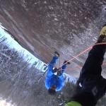 冬の がまスラブ  フィックスロープを貼って贅沢にユマールの練習
