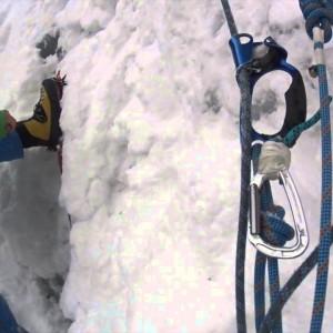 雪山 フィックスロープ,ユマールを使っての 登り